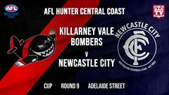 AFL HCC Round 9 - Cup - Killarney Vale Bombers v Newcastle City  Slate Image