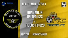 NPL1 Men - U23 - Capital Football  Play Off - Gungahlin United U23 v Tigers FC U23 Slate Image