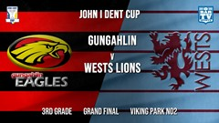John I Dent Grand Final - 3rd Grade - Gungahlin Eagles v Wests Lions Slate Image