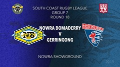 Group 7 South Coast Rugby League Round 18 - 1st Grade - Nowra-Bomaderry  v Gerringong Slate Image
