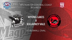 AFL HCC Round 6 - Wyong Lakes Magpies v Killarney Vale Bombers Slate Image