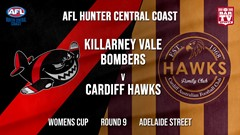 AFL HCC Round 9 - Womens Cup - Killarney Vale Bombers v Cardiff Hawks Slate Image