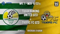 NPL1 Men - U23 - Capital Football  Series 2 - Tuggeranong United U23 v Tigers FC U23 Slate Image