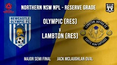 NPL NNSW RES Major Semi Final - Newcastle Olympic (Res) v Lambton Jaffas FC (Res) Slate Image
