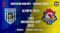 NPL NNSW RES Round 9 - Newcastle Olympic (Res) v Lake Macquarie City FC (Res) Slate Image
