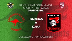 Group 7 South Coast Rugby League Grand Final - 1st Grade - Jamberoo v  Kiama Knights Slate Image