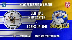 Newcastle Rugby League Grand Final - U19 - Central Newcastle v Lakes United Slate Image