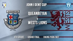 John I Dent Grand Final - 4th Grade - Queanbeyan Whites v Wests Lions Slate Image