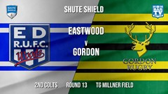 Shute Shield Round 13 - 2nd Colts - Eastwood v Gordon Slate Image