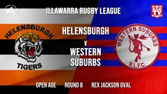 IRL Round 8 - Open Age - Helensburgh Tigers v Western Suburbs Devils Slate Image