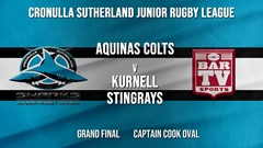 Cronulla JRL Grand Final - Blue Tag U/15s - Aquinas Colts v Kurnell Stingrays Slate Image