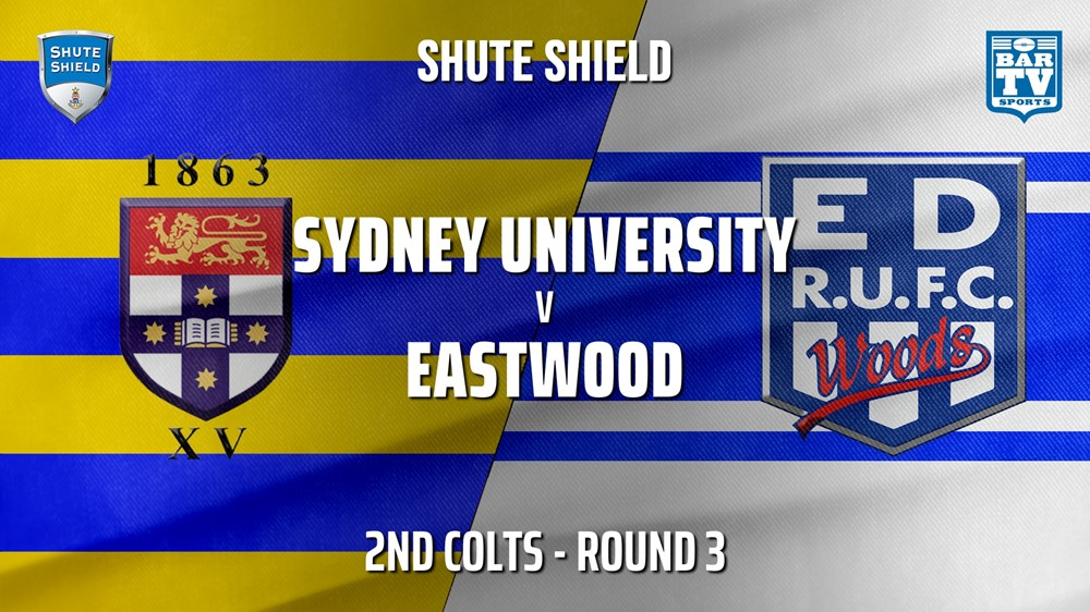 210421-Shute Shield Round 3 - 2nd Colts - Sydney University v Eastwood Slate Image