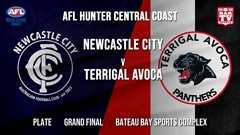 AFL HCC Grand Final - Plate - Newcastle City  v Terrigal Avoca Panthers Slate Image