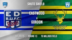 Shute Shield Round 13 - 1st Colts - Eastwood v Gordon Slate Image