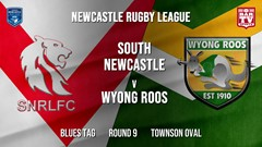 Newcastle Rugby League Round 9 - Blues Tag - South Newcastle v Wyong Roos Slate Image