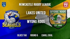 Newcastle Rugby League Round 6 - Blues Tag - Lakes United v Wyong Roos Slate Image