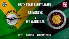 Group 7 RL Round 6 - LLT2 - Stingrays of Shellharbour v Mt Warrigal Kooris Slate Image
