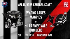 AFL HCC Round 10 - Cup - Wyong Lakes Magpies v Killarney Vale Bombers Slate Image