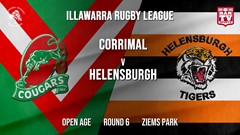IRL Round 6 - Open Age - Corrimal Cougars v Helensburgh Tigers Slate Image