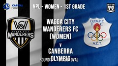 NPLW - Capital Round 3 - Wagga City Wanderers FC (women) v Canberra Olympic FC (women) Slate Image