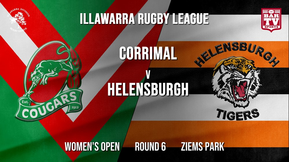 MINI GAME: IRL Round 6 - Women's Open - Corrimal Cougars v Helensburgh Tigers Slate Image