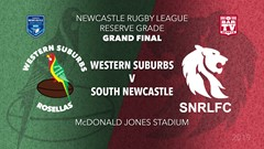 2019 Newcastle Rugby League Grand Final - Reserves Grade - Western Suburbs Rosellas v South Newcastle Slate Image