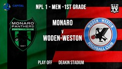 NPL - CAPITAL Play Off - Monaro Panthers FC v Woden-Weston FC Slate Image