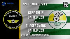 NPL1 Men - U23 - Capital Football  Series 3 - Gungahlin United U23 v Tuggeranong United U23 Slate Image