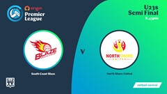 NSW Prem League Semi Final - U23s - South Coast Blaze v North Shore United Slate Image