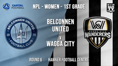 NPLW - Capital Round 6 - Belconnen United (women) v Wagga City Wanderers FC (women) Slate Image