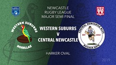 Newcastle Rugby League Major Semi Final - 1st Grade - Western Suburbs Rosellas v Central Newcastle Slate Image