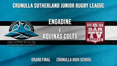 Cronulla JRL Grand Final - U/11s Silver - Engadine Dragons v Aquinas Colts Slate Image