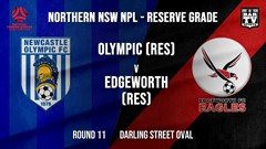 NPL NNSW RES Round 11 - Newcastle Olympic (Res) v Edgeworth Eagles (Res) Slate Image