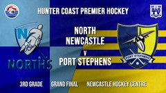Hunter Coast Premier Hockey Grand Final - 3rd Grade - North Newcastle v Port Stephens Hornets Slate Image