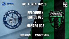 NPL1 Men - U23 - Capital Football  Grand Final - Belconnen United U23 v Monaro Panthers U23 Slate Image