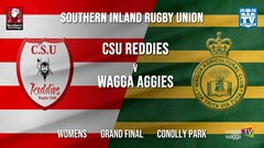 Southern Inland Rugby Union Grand Final - Womens - CSU Reddies v Wagga Agricultural College Slate Image