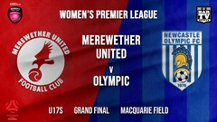 MINI GAME: Herald Women's Premier League Grand Final - U17s - Merewether United (Womens) v Newcastle Olympic (Women's) Slate Image