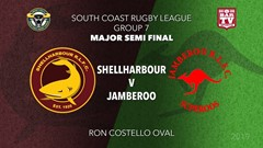 Group 7 South Coast Rugby League Major Semi Final - 1st Grade - Shellharbour Sharks v Jamberoo Slate Image