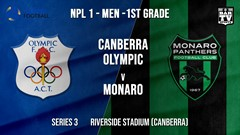 NPL - CAPITAL Series 3 - Canberra Olympic FC v Monaro Panthers FC Slate Image