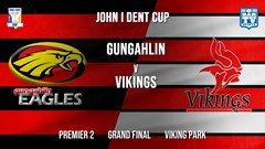 MINI GAME: John I Dent Grand Final - Premier 2 - Gungahlin Eagles v Tuggeranong Vikings Slate Image