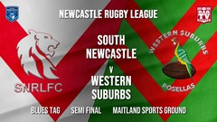 Newcastle Rugby League Semi Final - Blues Tag - South Newcastle v Western Suburbs Rosellas Slate Image