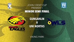 John I Dent Minor Semi Final - Premier 1 - Gungahlin Eagles v UNI-Norths Slate Image