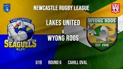 Newcastle Rugby League Round 6 - U19 - Lakes United v Wyong Roos Slate Image
