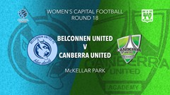 NPL Women - Capital Territory Round 18 - Belconnen United FC v Canberra United Academy Slate Image