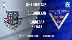 John I Dent Grand Final - Colts - Queanbeyan Whites v Canberra Royals Slate Image