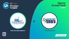 NSW Prem League 3rd Place Playoff - Opens - Manly Warringah Sapphires v Central Coast Heart Slate Image