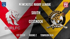 Newcastle Rugby League Round 2 - 1st Grade - South Newcastle v Cessnock Goannas Slate Image