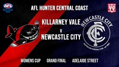 AFL HCC Grand Final - Womens Cup - Killarney Vale Bombers v Newcastle City  Slate Image