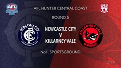 AFL HCC Round 5  -  Cup - Newcastle City  v Singleton Roosters Slate Image