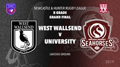 2019 Newcastle and Hunter RL Grand Final - West Wallsend v Newcastle University Slate Image